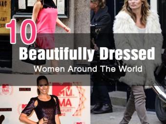 beautifully dressed women around the world
