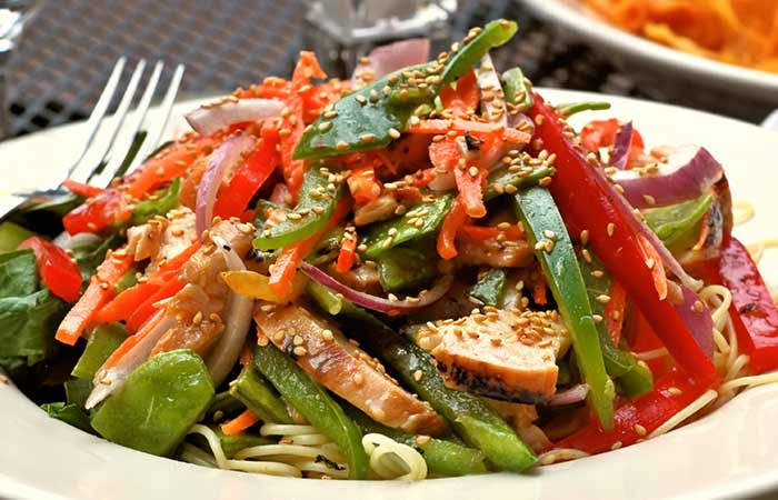 Bell Pepper And Chicken Salad