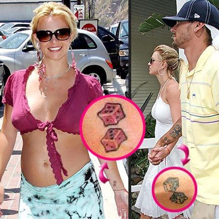 Britney Dice Tattoo