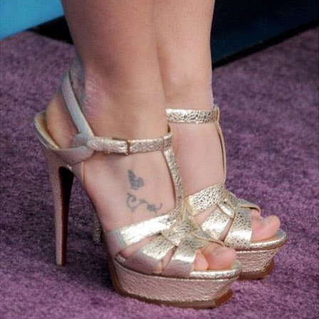 Britney Spears Foot And Toe Tattoo