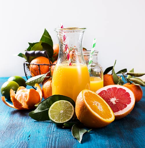 Citrus Fruits And Juices