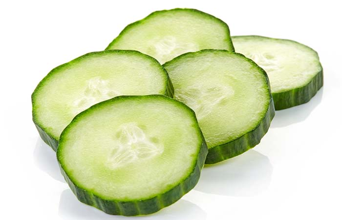 Home Remedies For Itchy Eyes - Cucumber Slices