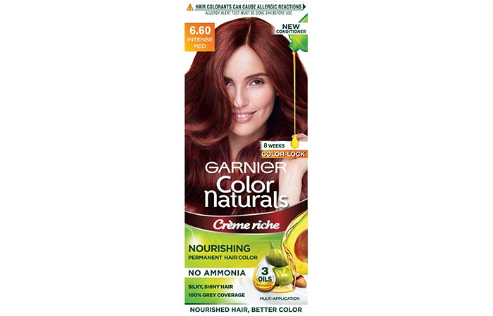 Garnier Color Naturals Nourishing Permanent Hair Color – 6.60 Intense Red