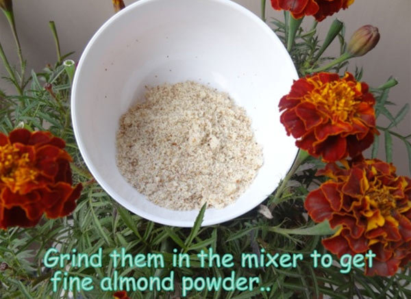 Homemade Almond Face Scrub 2