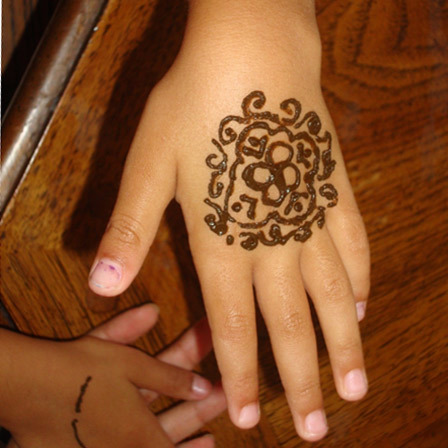 kids mehndi stickers