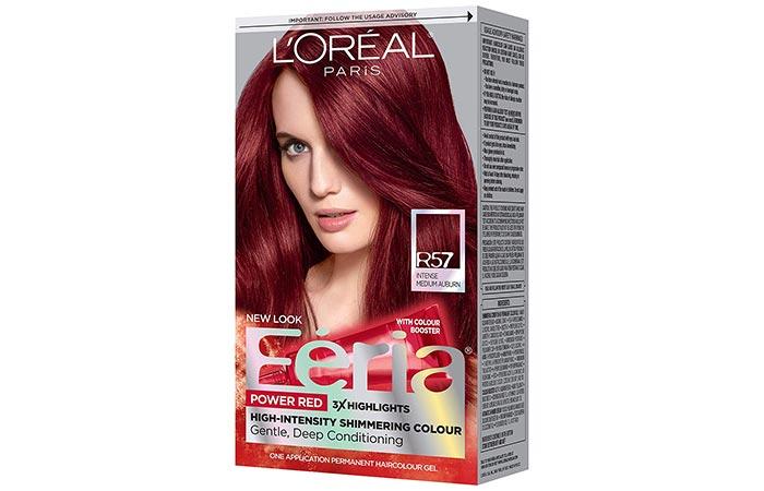 L'Oreal Paris Feria Power Red Hair Color – R57 Intense Medium Auburn