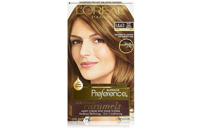 L'Oreal Paris Superior Preference Sun-Kissed Caramels Hi-Lift Color – UL63 Hi-Lift Gold Brown (Warmer)