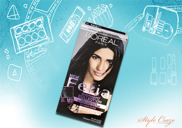 l'oréal feria haircolors in blue black shade