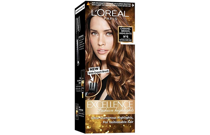 L'Oreal Paris Excellence Fashion Highlights – Caramel Brown Highlights No. 6