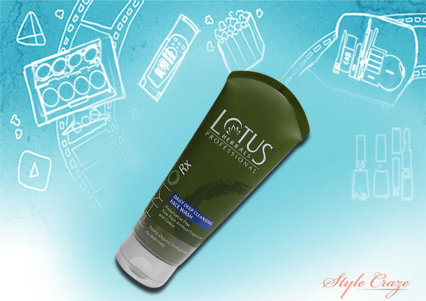 lotus phyto rx daily deep cleansing face wash