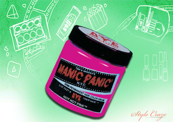 manic panic semi permanent hair color cream hot hot pink