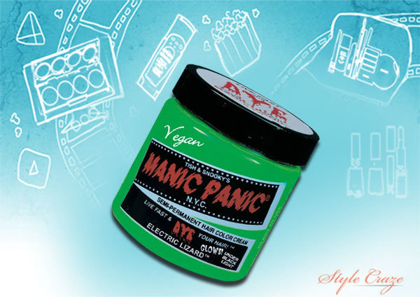 manic panic semi permanent vegan classic hair dye electric lizard green