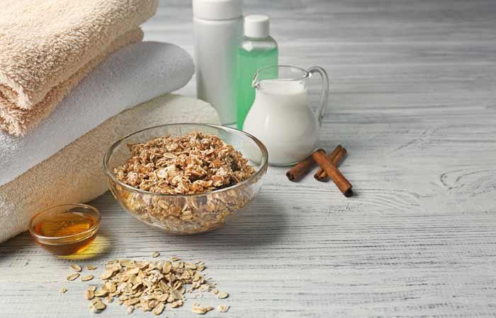 How To Get Rid Of Sunburn Blisters - Oatmeal Bath