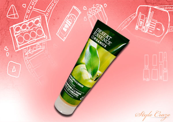 organic hair care-ginger and green apple shampoo