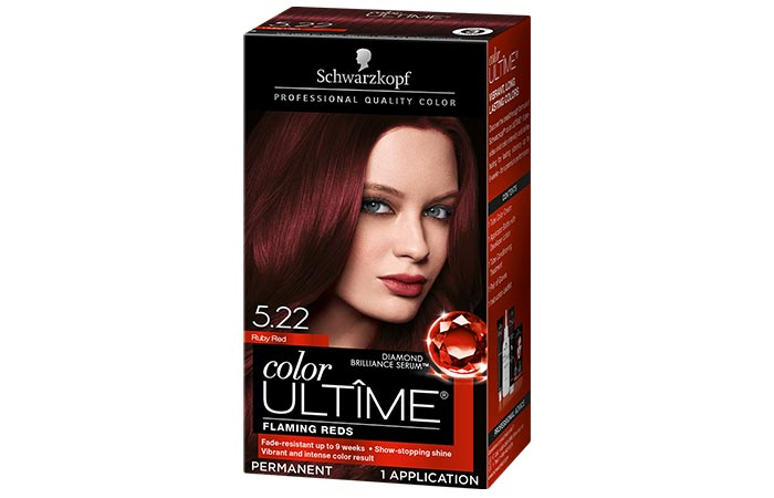 Schwarzkopf Color Ultime Permanent Hair Color – 5.22 Ruby Red