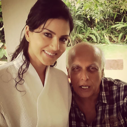 Sunny Leone With Mr. Bhatt At Jism 2 Shooting Spot