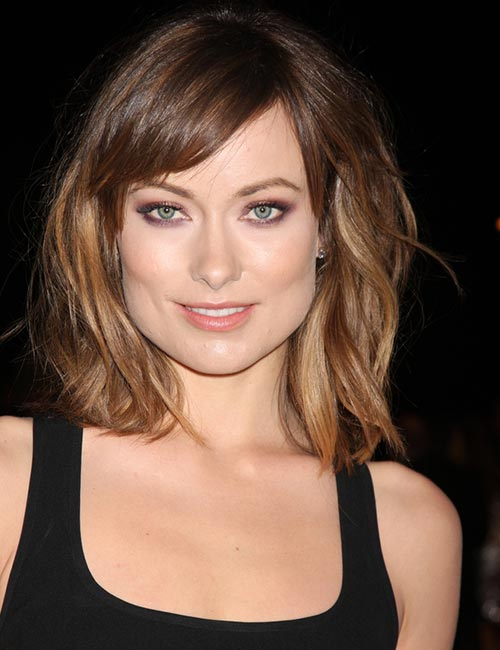 Side-Swept Bangs With Messy Bob