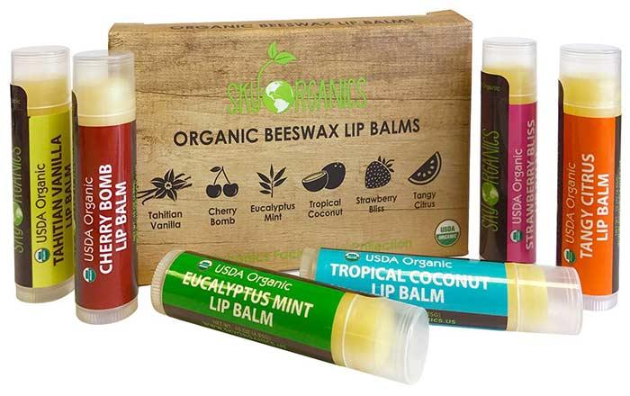 Лучшие Бальзамы Для Губ-Sky Organic Lip Balm