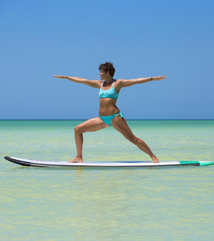 Surfer yoga
