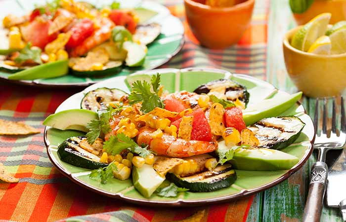 Zucchini Watermelon Salad