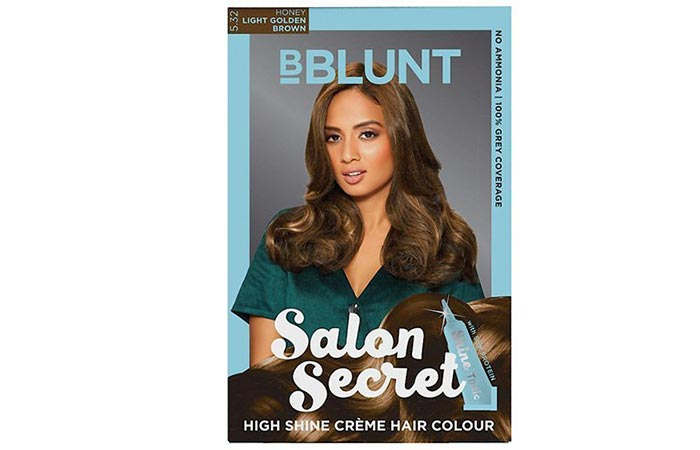 bBlunt Salon Secret High Shine Creme Hair Color - Light Golden Brown