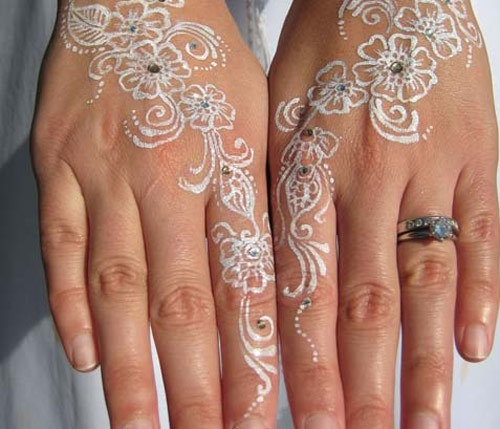 beautiful white henna designs eight