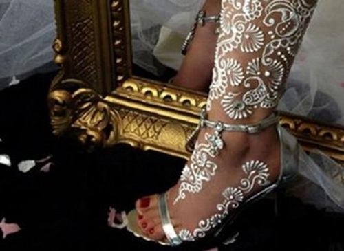 beautiful white henna designs five