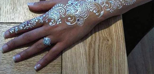 beautiful white henna designs six