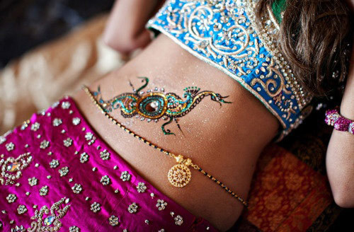 belly henna designs eight