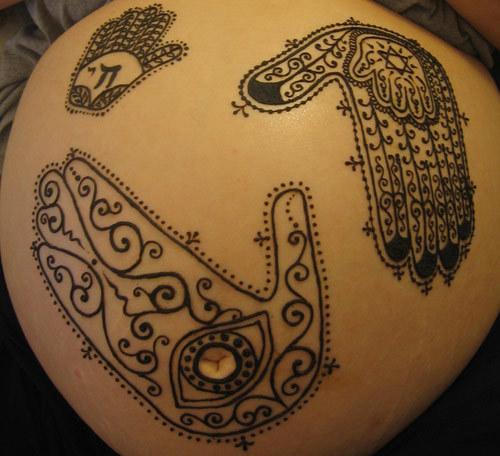 l'henné della pancia disegna cinque