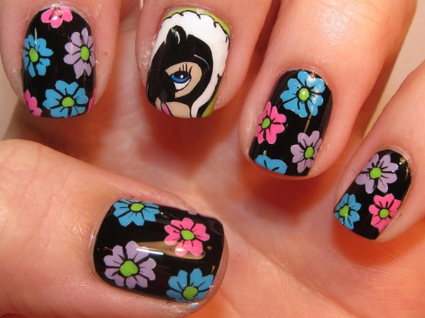 10 amazing hand painted nail art designs design 5 prinsesfo Choice Image