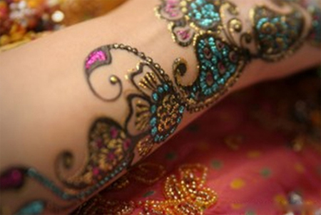 interesting bisha mehndi design fours