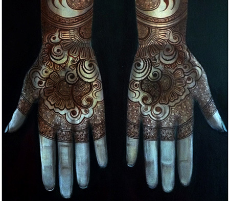 interesting bisha mistry mehndi design one