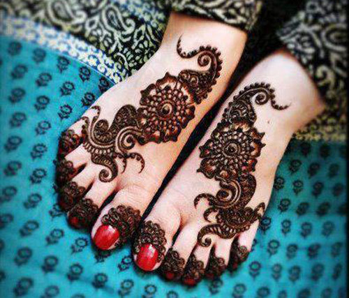 mehendi pattern would look