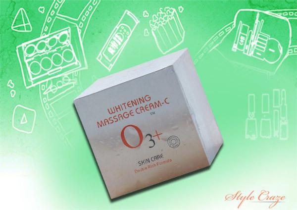 o3+ whitening massage cream
