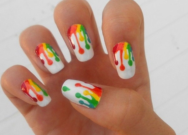 Design 10: - 10 Amazing Hand Painted Nail Art Designs