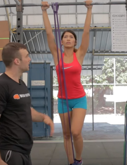 Pull Up Exercises For Women - Band Assisted Pull-Up