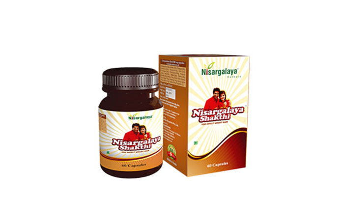 Nisargalaya Shakthi For Safest Weight Gain Capsules