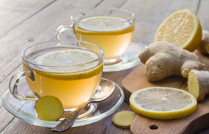 14. Lemon And Ginger Tea