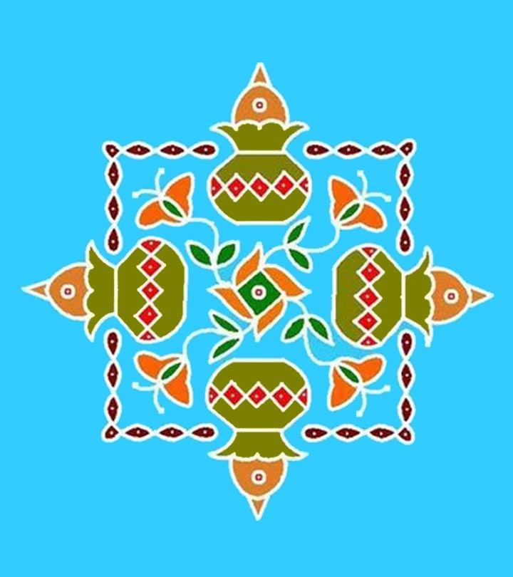 16 Best Pongal Kolam Designs That You Should Try In 2019