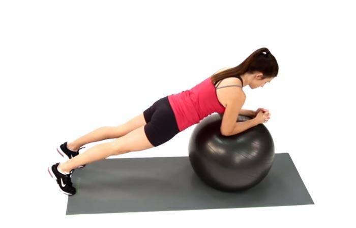 16. Swiss Ball Incline Plank