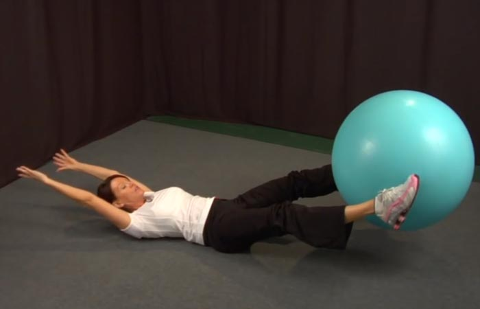 Swiss Ball Exercises - Swiss Ball V-Pass