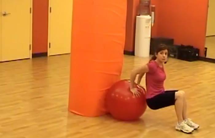 2. Swiss Ball Tricep Dip