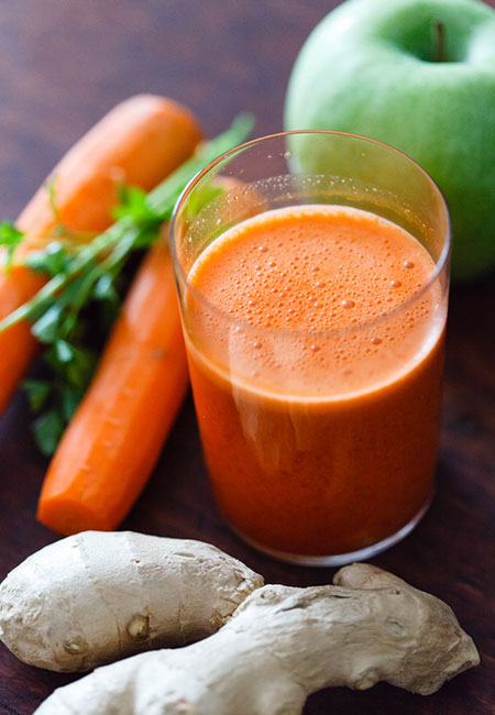 20. Carrot, Ginger, And Apple Juice