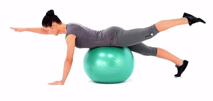 20. Swiss Ball Arm And Leg Lift