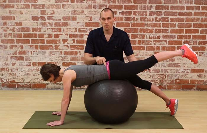 Swiss Ball Exercises - Swiss Ball Back Extension