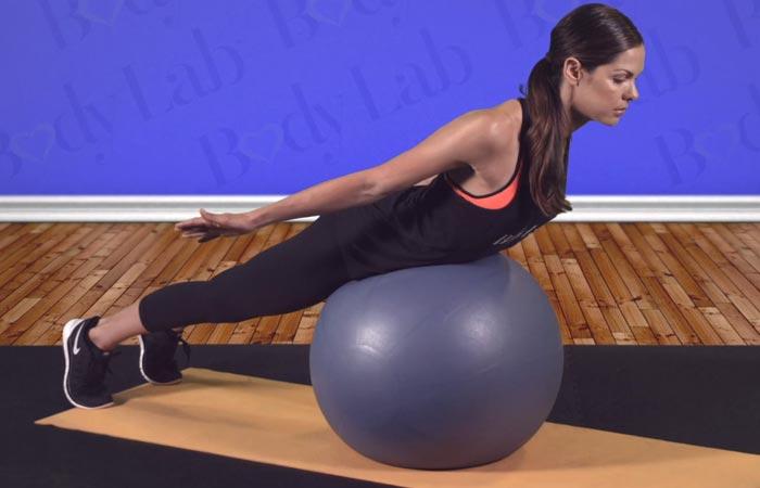 Swiss Ball Exercises - Swiss Ball Prone Cobra