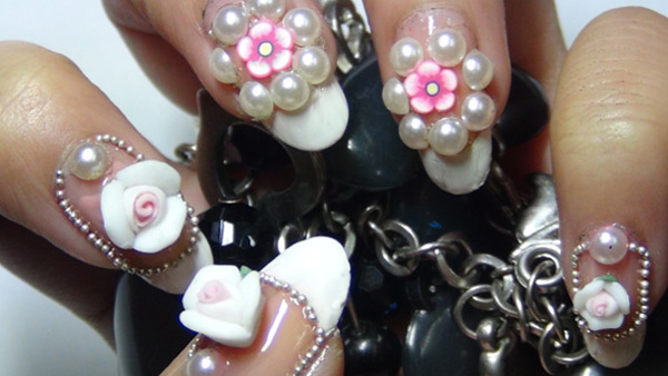 3d flower nail art eight