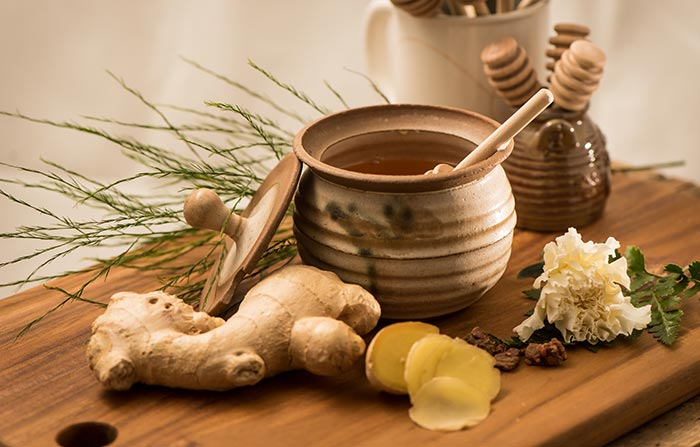 5. Ginger, Peppermint, And Honey For Cough