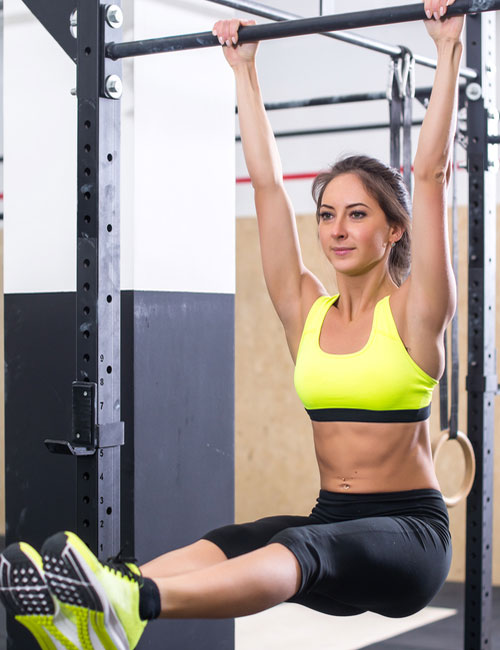 Pull-Up Exercises For Women - Raised Leg Pull-Up